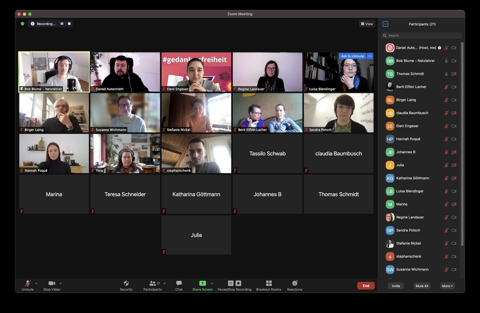 Hackathon Zoom Meeting